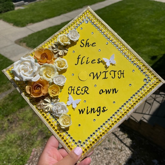 Handmade Graduation Cap Topper She Flies